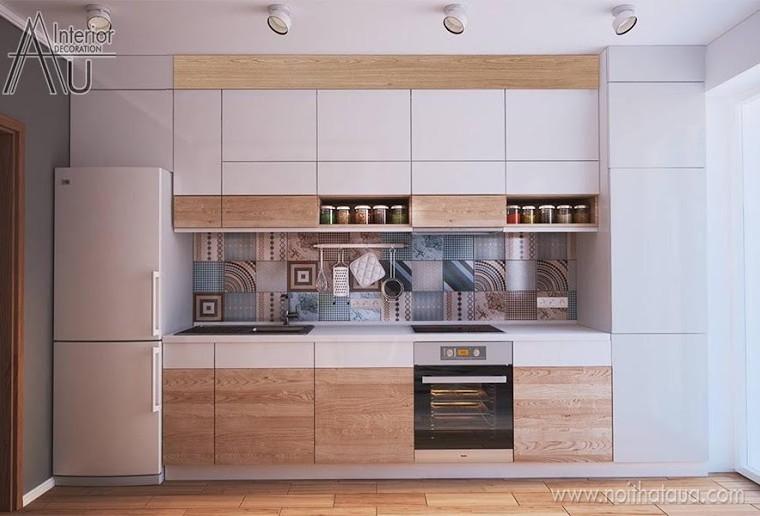 Mẫu tủ bếp đẹp hiện đại