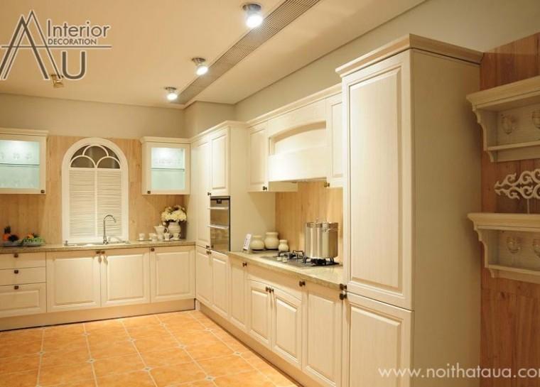 mẫu tủ bếp đẹp hình chữ L
