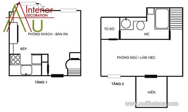 Thiết kế căn hộ chung cư 51m2