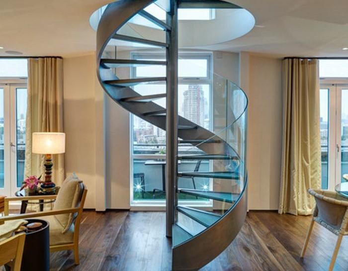 Thiết kế cầu thang xoắn ốc - giải pháp cho nhà phố