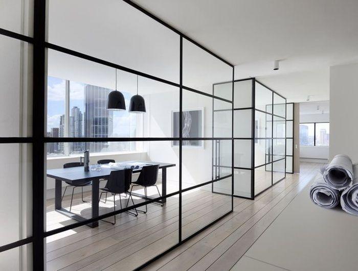 Thiết kế nội thất không gian mở kết hợp vách ngăn phòng hiệu quả