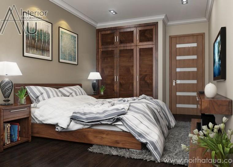 thiết kế giường ngủ hiện đại