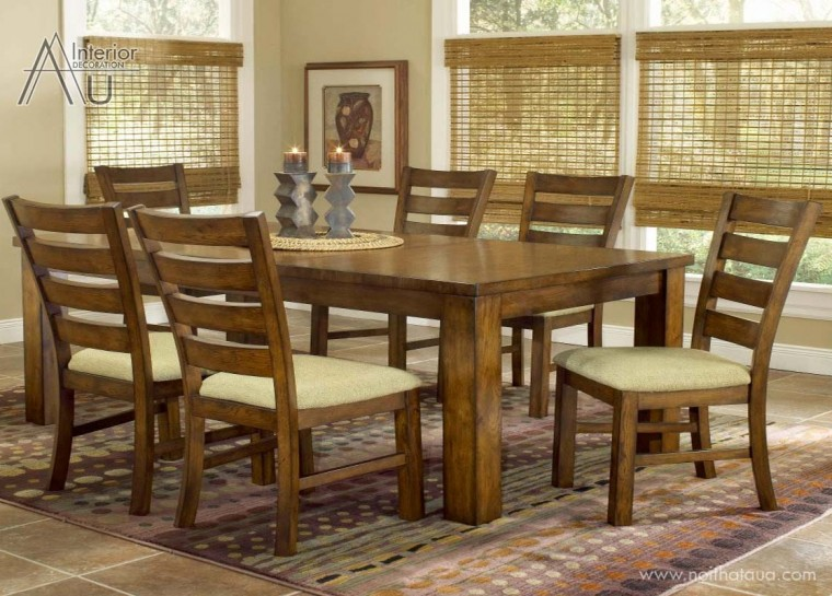bàn ăn gỗ sồi