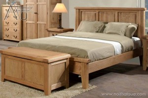 giường ngủ gỗ sồi mỹ