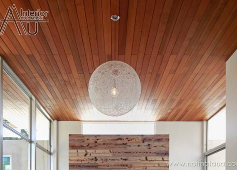 Trần gỗ phẳng