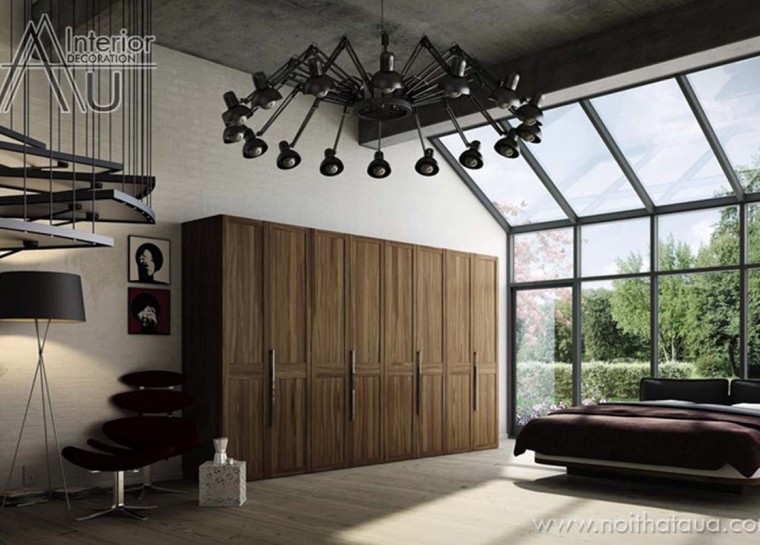 tủ áo gỗ laminate